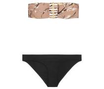 Gossamer Bamboo Bandeau-bikini Mit Print -