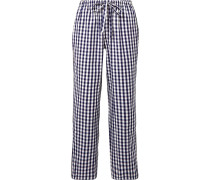 Marina Pyjama-hose Aus Baumwolle Mit Gingham-karo -