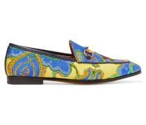 Jordaan Loafers Aus Jacquard Mit Horsebit-detail - Blau