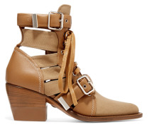 Rylee Ankle Boots Aus Leder Und Canvas Mit Cut-outs -