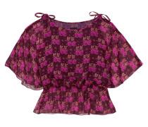 Bedruckte Bluse Aus Seiden-georgette - Burgunder