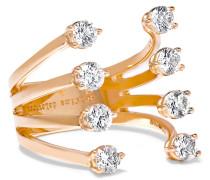 Ring Aus 18 karat Roségold Mit Diamanten