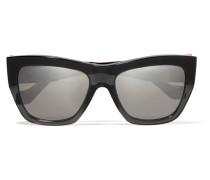 Verspiegelte Sonnenbrille Mit Eckigem Rahmen Aus Azetat -