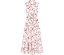 Fabiola Midikleid Aus Cloqué Mit Floralem Print - Pink