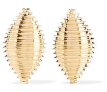 Large Shell Ohrringe aus 14 Karat
