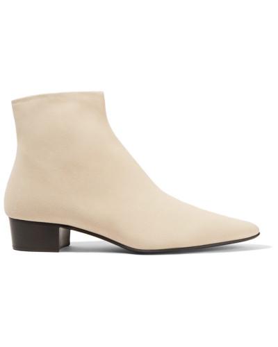 The Row Damen Ambra Ankle Boots aus Veloursleder Günstig Kaufen Kosten Mit Paypal Zu Verkaufen Neue Online-Verkauf 6o0Ada2MZ