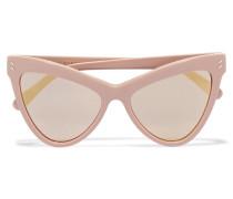 Verspiegelte Sonnenbrille Mit Cat-eye-rahmen Aus Azetat - Pastellrosa