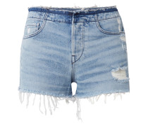 W4 Shelter Jeansshorts In Distressed-optik -