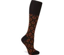 Socken Aus Einer Baumwollmischung Mit Intarsienmuster - Braun - EU39, - Socken Aus Einer Baumwollmischung Mit Intarsienmuster - Braun - EU35