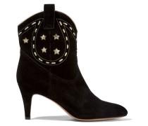 Georgia Ankle Boots Aus Veloursleder Mit Lederbesatz -