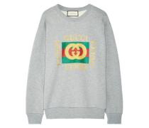 Oversized-sweatshirt Aus Baumwollfrottee Mit Print Und Applikation -