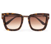 Sonnenbrille Mit Eckigem Rahmen Aus Azetat In optik
