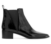 Jensen Ankle Boots Aus Lackleder - Schwarz