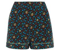 Shorts Aus Popeline Mit Floralem Print -