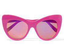 Sonnenbrille Mit Cat-eye-rahmen Aus Azetat - Pink