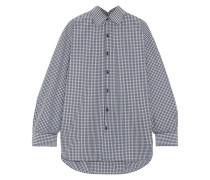 Kariertes Oversized-hemd Aus Popeline Aus Einer Baumwollmischung -