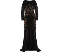 Verzierte Robe Aus Samt - Schwarz