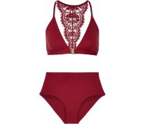 Elite Bikini Mit Besatz Aus Chantilly-spitze - Bordeaux