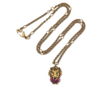 Goldfarbene Kette Mit Swarovski-kristall