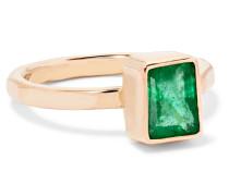 Ring aus 14 Karat  mit Smaragd