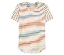 Whisper Gestreiftes T-shirt Aus Baumwoll-jersey - Creme