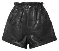 Shea Shorts aus Leder in Knitteroptik