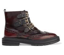 Everdon Ankle Boots Aus Leder Mit Farbverlauf Und Schnallen -