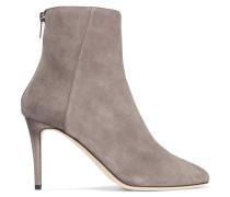 Duke Ankle Boots Aus Veloursleder - Hellgrau