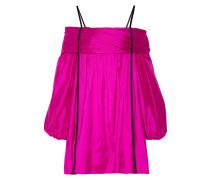 Schulterfreies Kleid aus Seidentaft