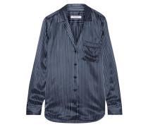 Keira Gestreiftes Hemd Aus Seidensatin -