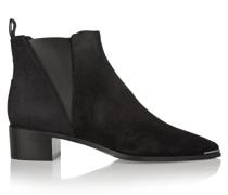 Jensen Ankle Boots Aus Veloursleder - Schwarz