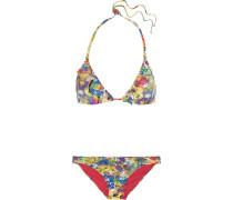 Triangel-bikini Mit Blumenprint Und Rüschen -