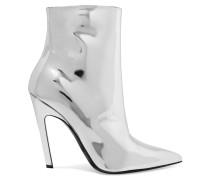 Ankle Boots Aus Verspiegeltem Leder -