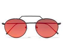 Wynwood Ii Verspiegelte Sonnenbrille Mit Rundem Rahmen Aus Metall -