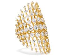 Disco Ring Aus 18 Karat  Mit Diamanten