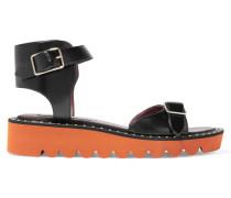 Nietenbesetzte Sandalen Aus Kunstleder - Schwarz