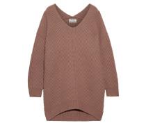 Deka Oversized-pullover Aus Gerippter Wolle -