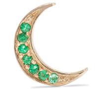 Mini Crescent Ohrring Aus 14 Karat  Mit Smaragden