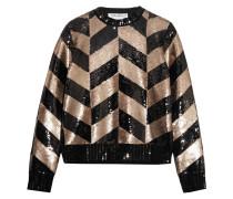 Sweatshirt Aus Wolle Mit Pailletten - Schwarz