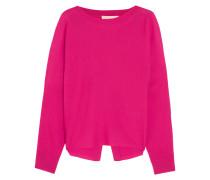 Famed Pullover Aus Merinowolle Mit Offener Rückenpartie - Pink