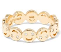 All Happy Ring Aus 14 Karat  Mit Diamanten