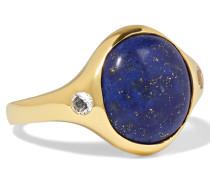 Essential Vergoldeter Ring Mit Lapislazuli Und Topas