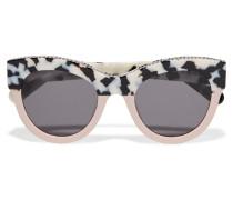 Sonnenbrille Mit Cat-eye-rahmen Aus Azetat Und Kettendetail - Puder