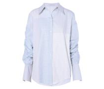 Oversized-hemd Aus Baumwollpopeline Mit Raffungen -