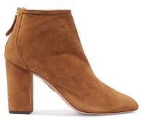 Downtown Ankle Boots Aus Veloursleder - Braun