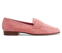 Classic Loafers Aus Veloursleder - Pink