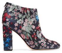 Cambell Ankle Boots Aus Floralem Brokat - Grau