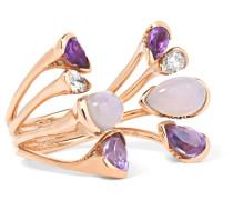 Corolla Ring Aus 18 Karat Rosé Mit Mehreren Steinen