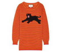 Wollpullover Mit Intarsienmotiv - Orange