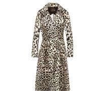Trenchcoat Aus Baumwoll-twill Mit Leopardenprint -